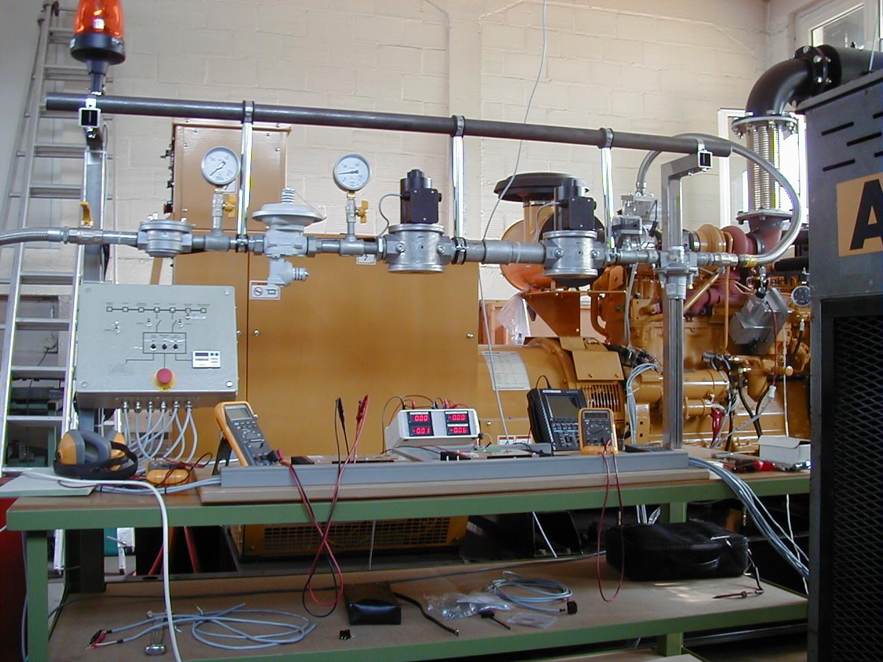دوگانه سوز سازی دیزل ژنراتور کاترپیلار-کیت تبدیل دیزل به گازسوز