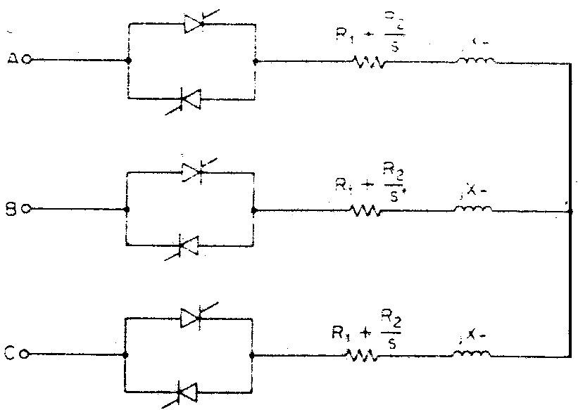 كنترل سرعت موتور القايي سهفازه توسط كنترلكننده ولتاژ سهفاز از نوع AC