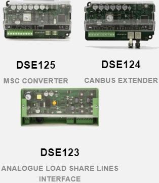 بردمبدل msc dse 125، افزاینده طول مسیر dse 124 canbus و انتقال دهنده بار آنالوگ dse 123