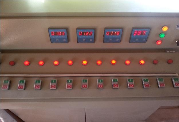 تابلو برق پیانویی جهت راه اندازی و کنترل دستگاه سنگ خورد کن