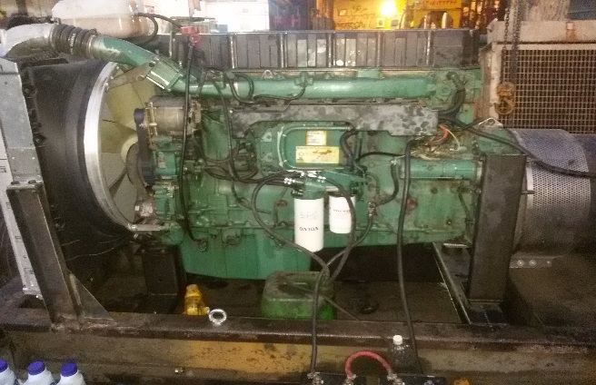 تبدیل موتور کامیون volvo fh12 به دیزل ژنراتور 400kva