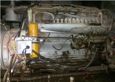 تعمیر و به روز رسانی دیزل ژنراتور 53kva mez zse - نصب برد کنترلی ،اکچویتور ، گاورنر و avr