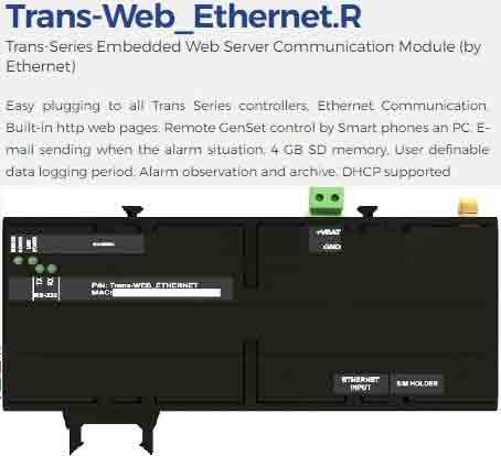 ماژول ارتباط از طریق ethernet مدلtrans web ethernet.r