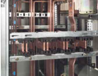 ساپورتها به شماره فنی 24 373 میتوانند جهت عبور جریان بسیار زیاد استفاده شوند(تا 4000A در تابلو برق IP55 و XL34000