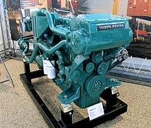 یک موتور دیزل Volvo Penta TAMD120 ، ساخته شده از سال 1970-1983