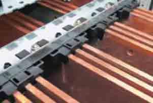 1 تا 3 شمش 10 میلی متری روی هر فاز در طریقه شینه بندی تابلو برق