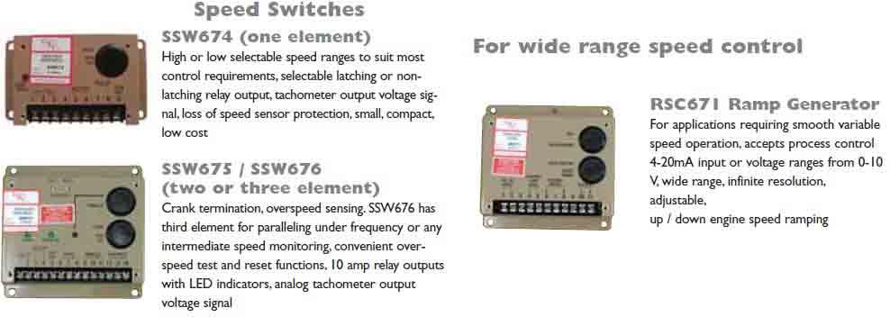 ماژولهای گاورنر مدل ssw674 & rsc671 & ssw675 & ssw676