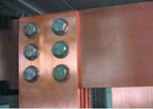 طریقه اتصال شمش 120*10 برای جریان 4000A در اصول شینه بندی تابلو برق