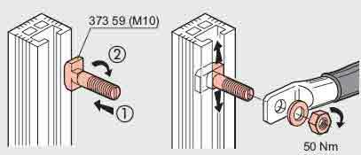 شمش آلومینیومی(شمش های نرم مستقیما متصل میشوند و نیازی به واشر و اسپیسر نیست)