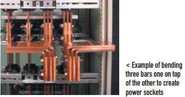 خم کردن و اتصال شینه ها در آموزش شینه بندی تابلو برق