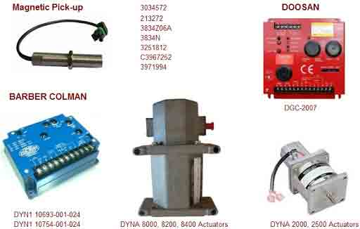 یک ست کنترل دور و سرعت دیزل ژنراتور دوسان(گاورنر،اکچویتور و پیکاپ دوسان DOOSAN)