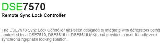 برد کنترلی plc دیزل ژنراتوردیپسی مدل dse 7570