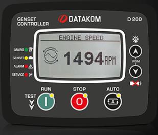 برد کنترلی plc دیزل ژنراتوردیتاکام (datakom)مدلD-200