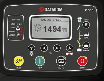 برد کنترلی plc دیزل ژنراتوردیتاکام (datakom)مدلD-500