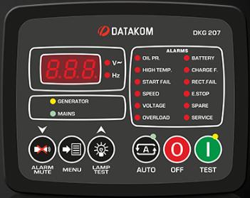 برد کنترلی plc دیزل ژنراتوردیتاکام (datakom)مدلDKG-207