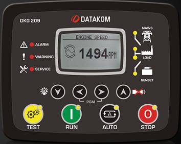 برد کنترلی plc دیزل ژنراتوردیتاکام (datakom)مدلDKG-209