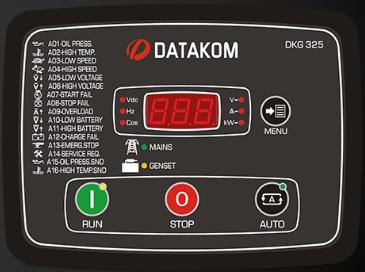 برد کنترلی plc دیزل ژنراتوردیتاکام (datakom)مدلDKG-325