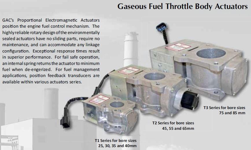 محرک سوختیا اکچویتور دیزل ژنراتورهای گاز سوز