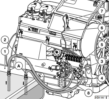 نقشه شماتیک سوخت موتور ژنراتور دویتس-سیستم سوخت رسانی موتور دویتس