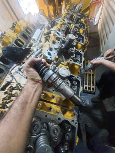 caterpillar 3512 overhaul - تعمیر اساسی اورهال دیزل ژنراتور کاترپیلار 3512