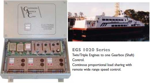 کنترلر چند موتور کشتی با یک جعبه دنده GAC مدل EGS1020