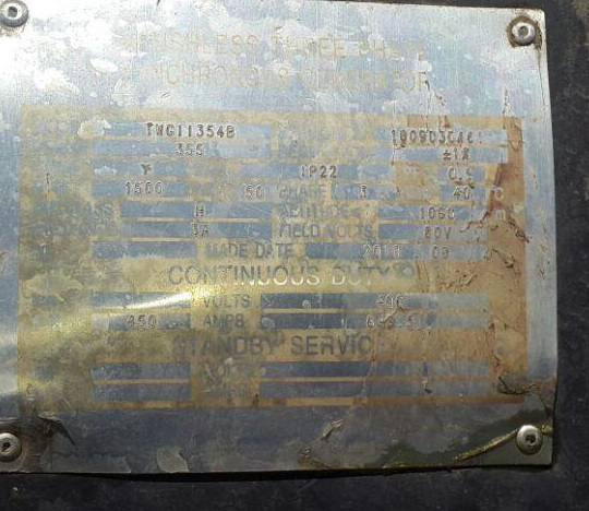 دیزل ژنراتور 400kva ولوو مدل fh12 ژنراتور مکالته با تابلو برق با برد کنترلی کامپ amf25- ولوو استمفورد
