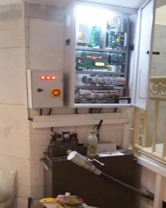 نصب آسانسور هیدرولیک 4 ایستگاه وسط پله اصفهان- آسانسور و بالابر - جک و پاور ویتور - شیر بلین